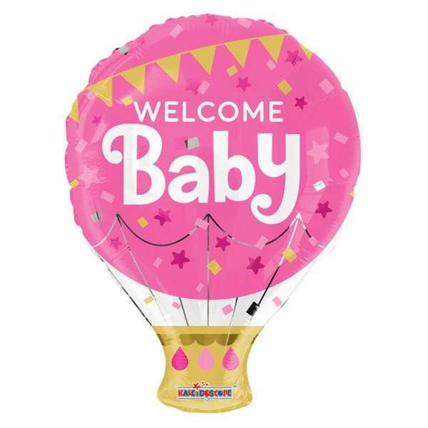 Globo Mylar Welcome Baby Girl