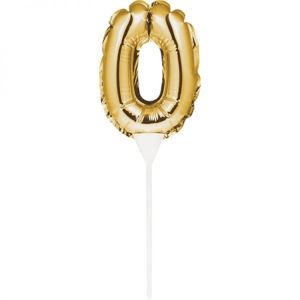 Cake Topper 0 Dorado (Inflable)