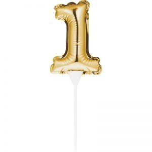 Cake Topper 1 Dorado (Inflable)