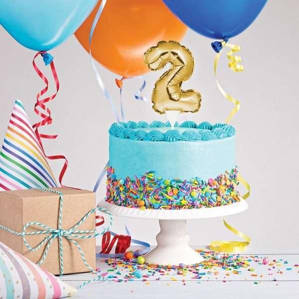 Cake Topper 2 Dorado (Inflable)