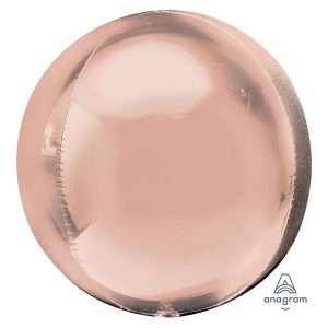 Globo Mylar Orbz Rose Gold