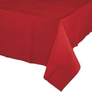 Mantel de Plástico Rojo