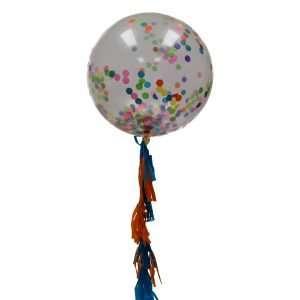 Globo Gigante Con Confetti Multicolor
