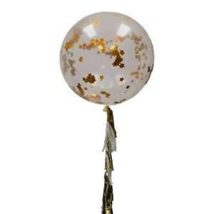 Globo Gigante Con Confetti Dorado De Estrellas