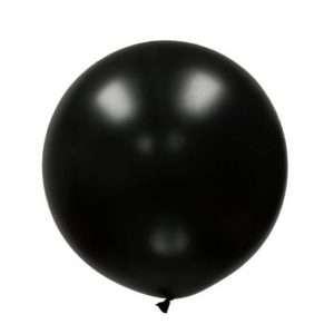 Globo Gigante Negro Metálico