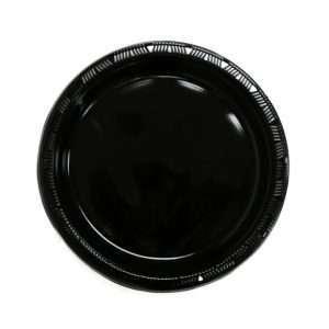 Plato Plástico Negro