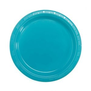Plato Plástico Turquesa