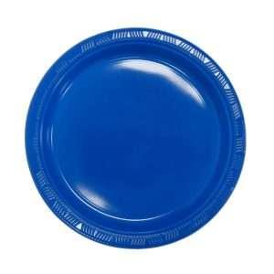 Plato Plástico Azul Royal