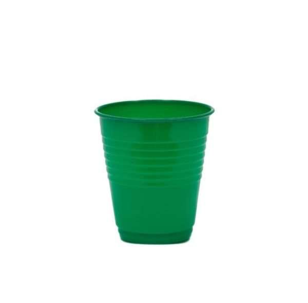 Vaso Plástico Verde Esmeralda