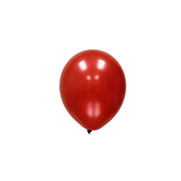 Globo Rojo Cereza Metálico