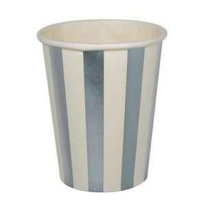 Vaso de Carton Metálico