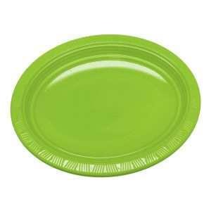 Plato Plástico Ovalado Verde Lima