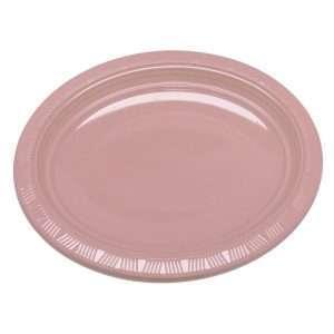 Plato Plástico Ovalado Rosado