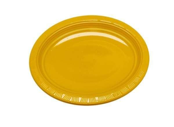 Plato Plástico Ovalado Amarillo