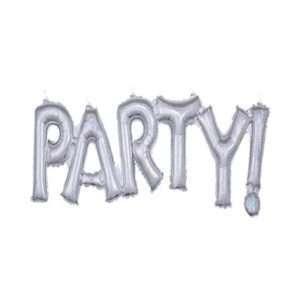 Globo Mylar Party Plateado