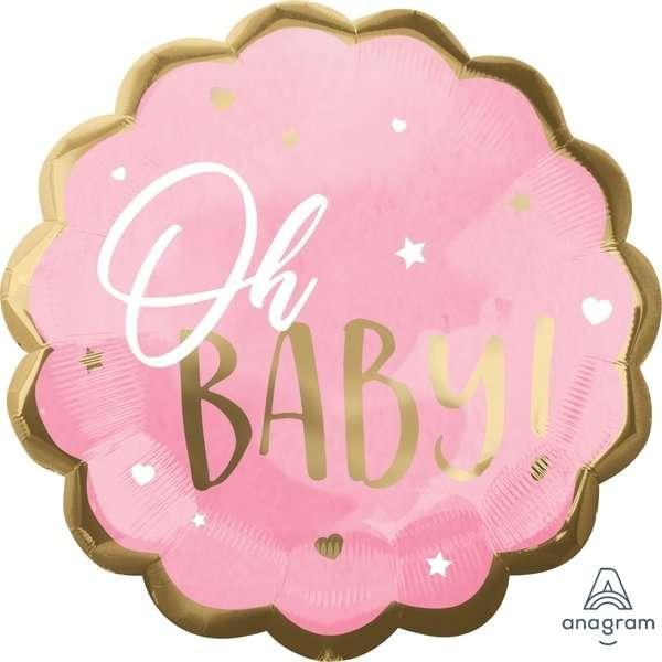 Globo Mylar Oh Baby Girl
