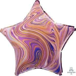 Globo Estrella Purple Marblez