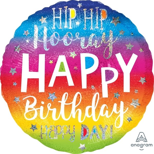 Globo Mylar Hip Hooray Birthday Jumbo
