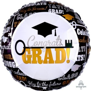Globo Congrats Grad Dorado