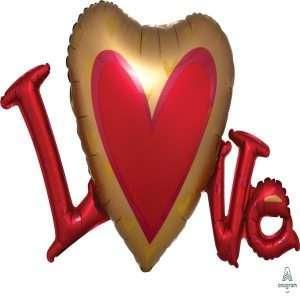 Globo Mylar Love Arrow