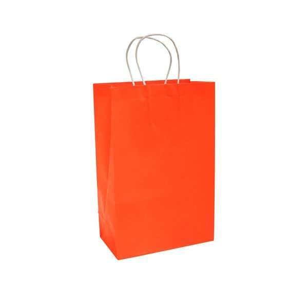 Bolsa de Papel Naranja Neon