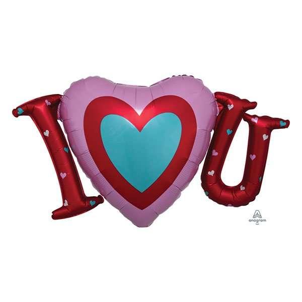 Globo Mylar I Love You